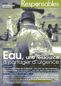 Mars 2008 - Eau, une ressource à partager d'urgence