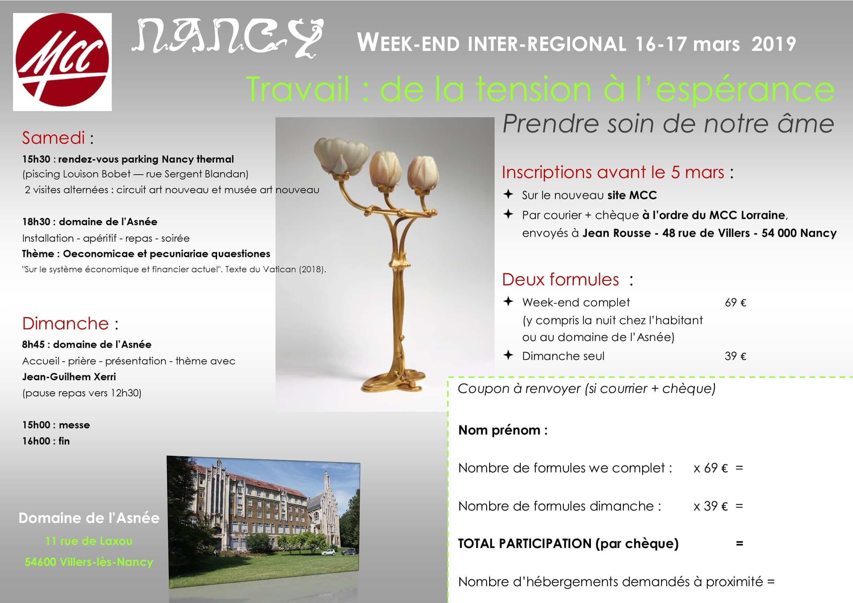 la moitié ebd0e 8a9a9 Nancy,16-17/03/19 Travail : de la tension à l'espérance - MCC